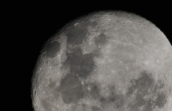 The moon during our Stargazing sessions