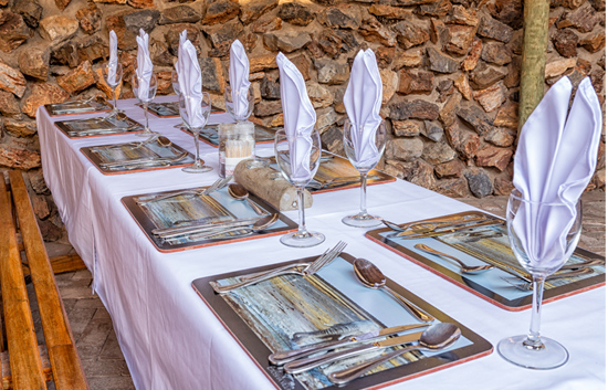 Etosha Village Table Setting